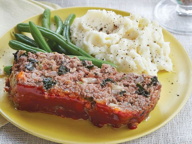 Meat Loaf with Spinach