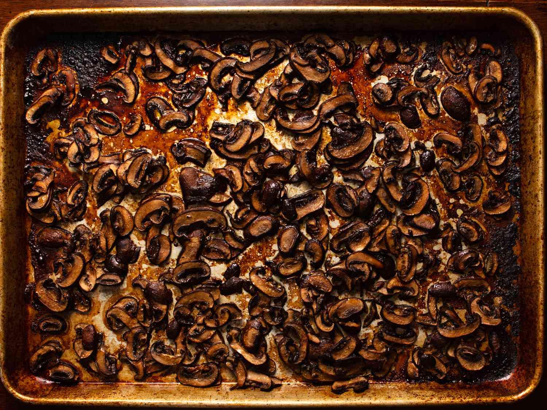 Roasting mushrooms