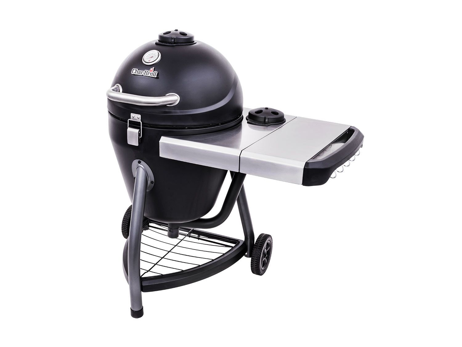 The Char-Broil Kamander Charcoal Grill, a medium-sized, low-priced kamado cooker