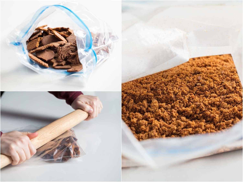 making gingerbread cookie crumbs