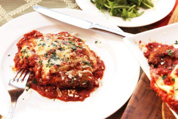 Chicken Parmesan plated