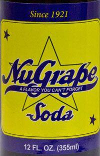 NuGrape Soda label
