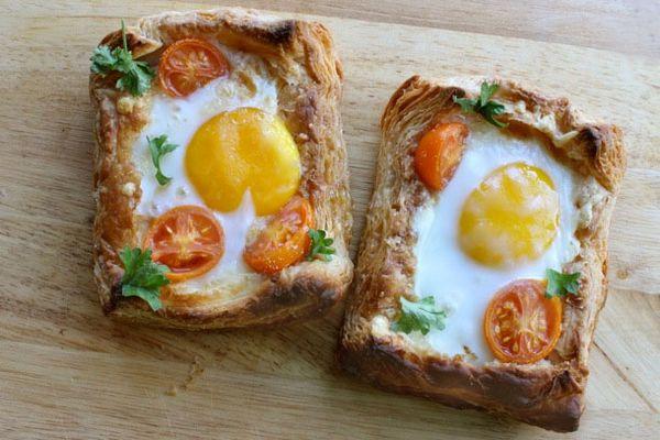 Cheese egg breakfast tart