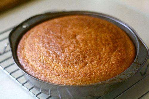 baked almond olive oil cake