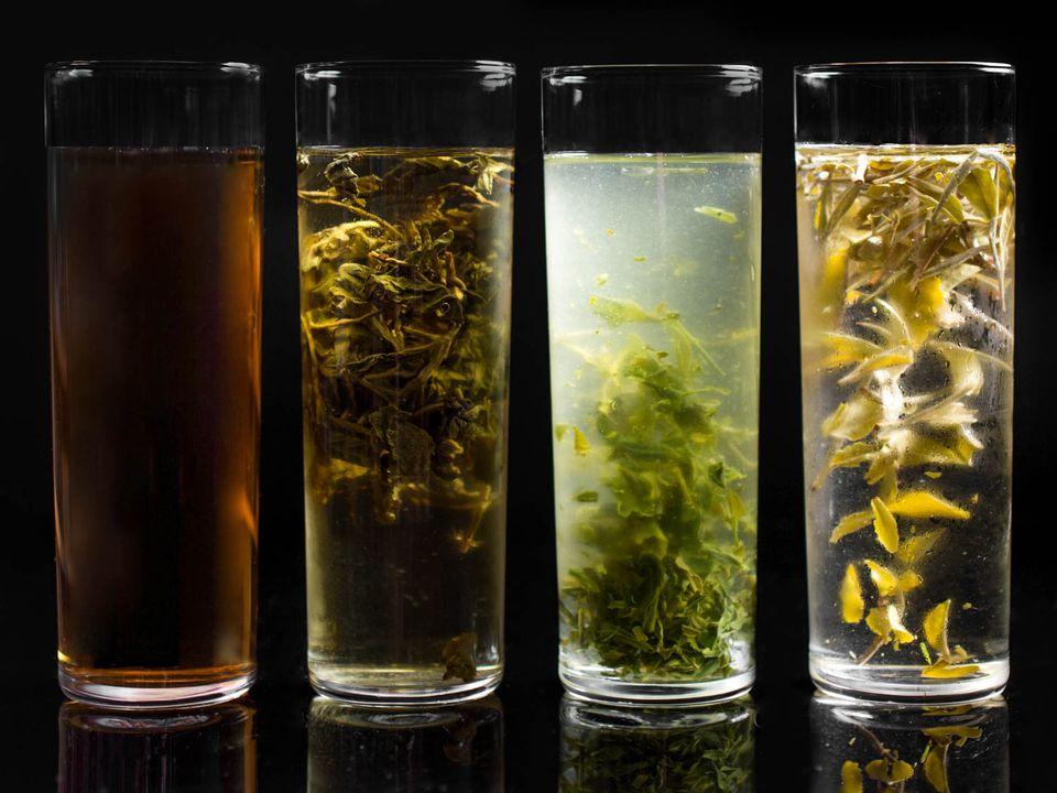 Four tea varieties cold-brewing