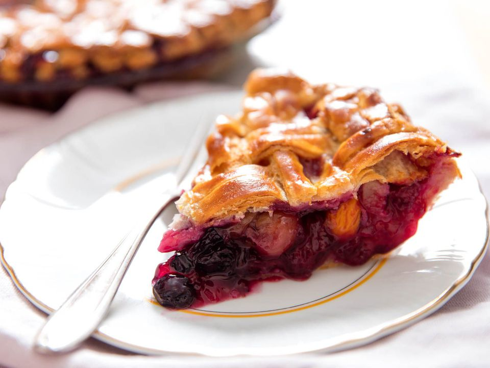 fruit pie with a flaky crust