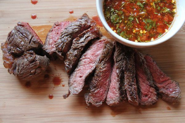 Crying Tiger Steak with Jaew dipping sauce
