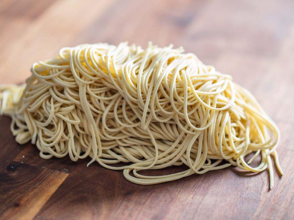 Pile of ramen noodles