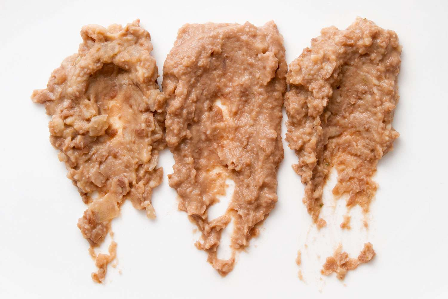 Comparing consistency of mashed, puréed, and processed beans