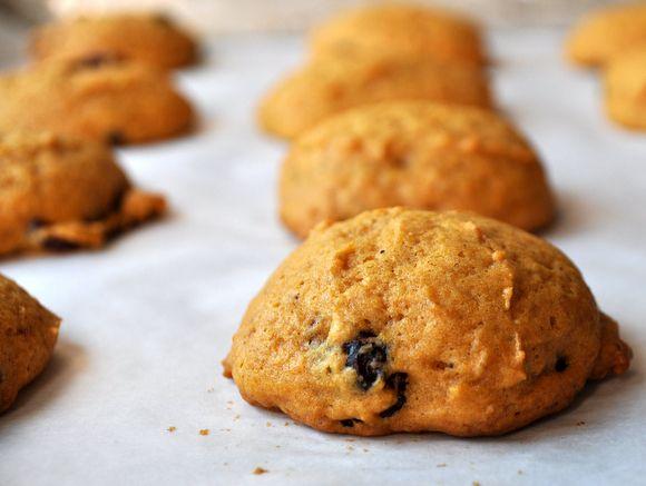 Pumpkin orange cranberry cookies