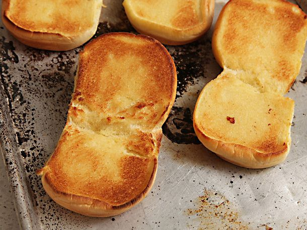 toasted burger buns