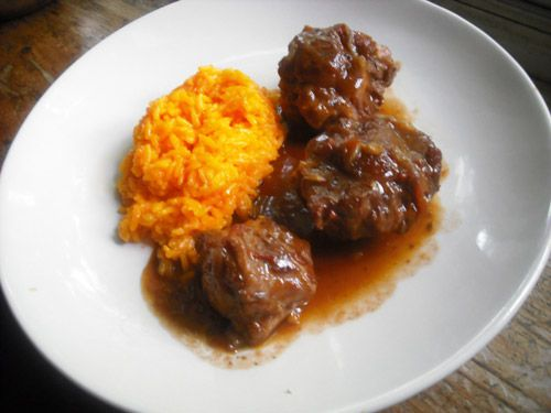 braised veal oxtail