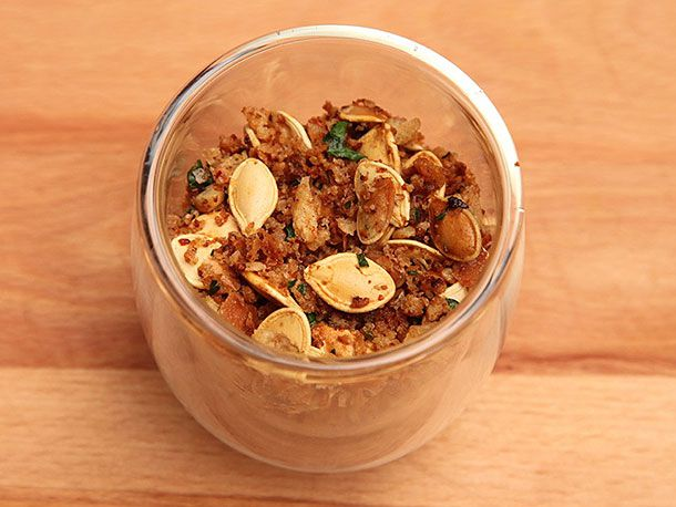 Pumpkin Seeds With Anchovy Bread Crumbs