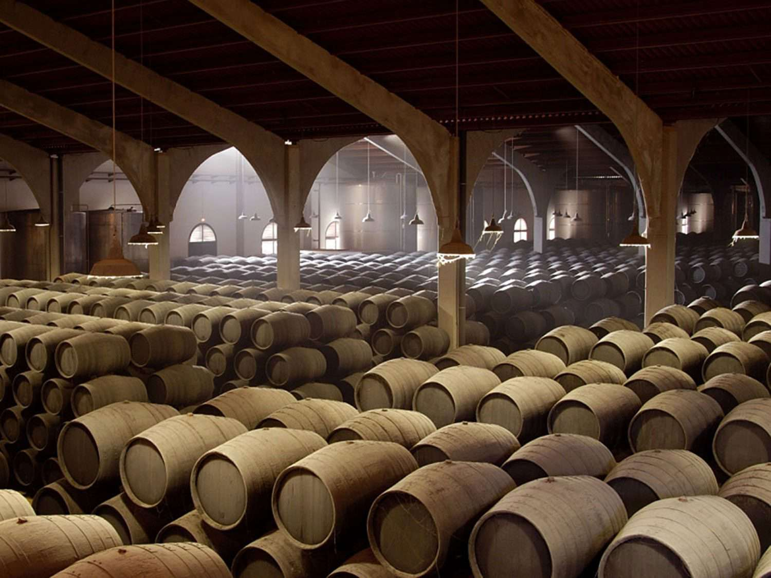 Solera system for aging sherry in Spain