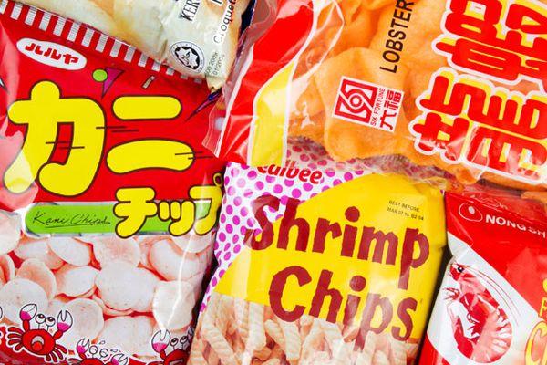 Shrimp chip bags
