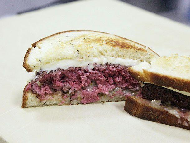 burger patty sandwich