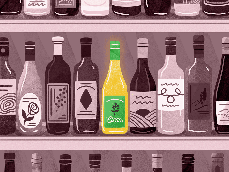 "Illustration of ""clean"" wine"