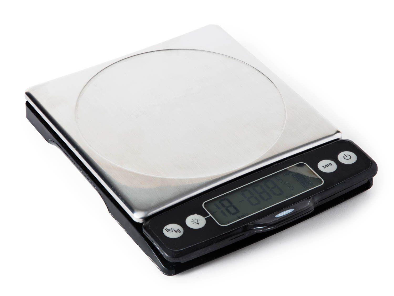 A digital kitchen scale