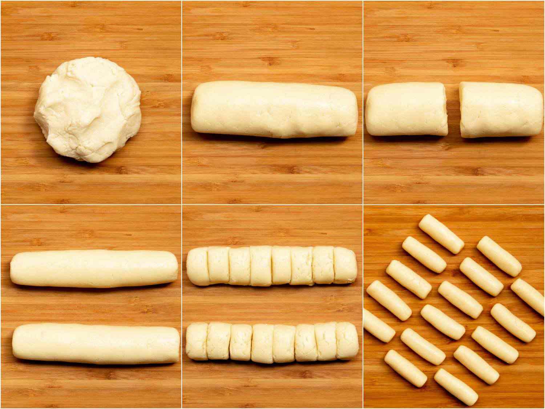 collage: forming the pastillas de leche