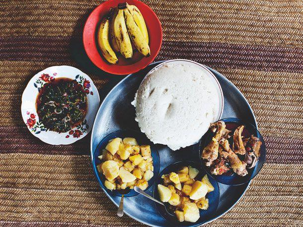 A traditional Kenyan meal