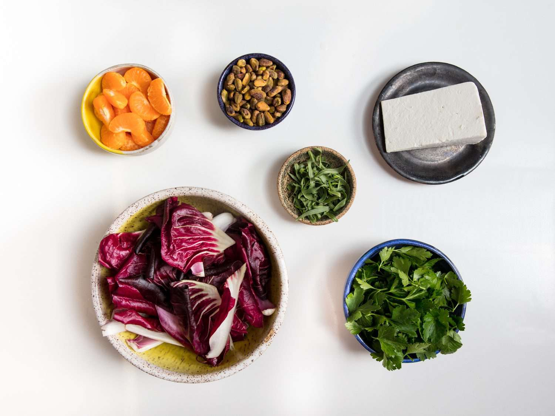 Ingredients for radicchio salad