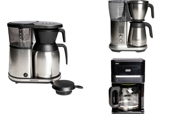 An assortment of drip coffee makers