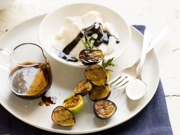 Grilled Fig Sundaes with Balsamic 'Fudge'