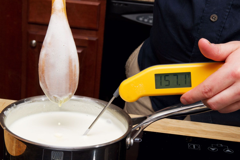 heating custard