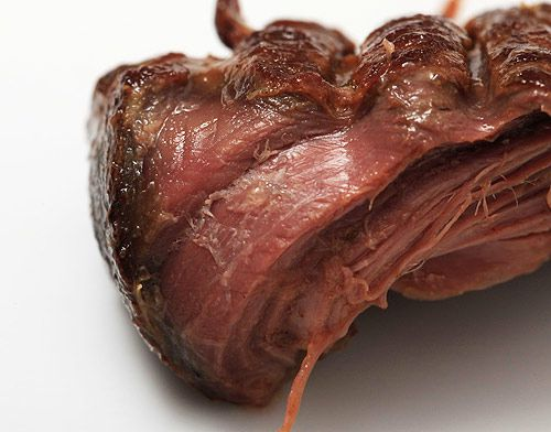 beef with seared outer edge