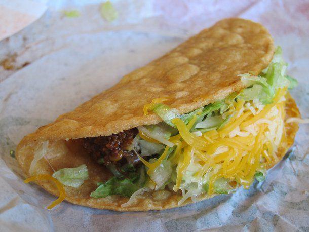Green Burrito: Hard Shell Taco