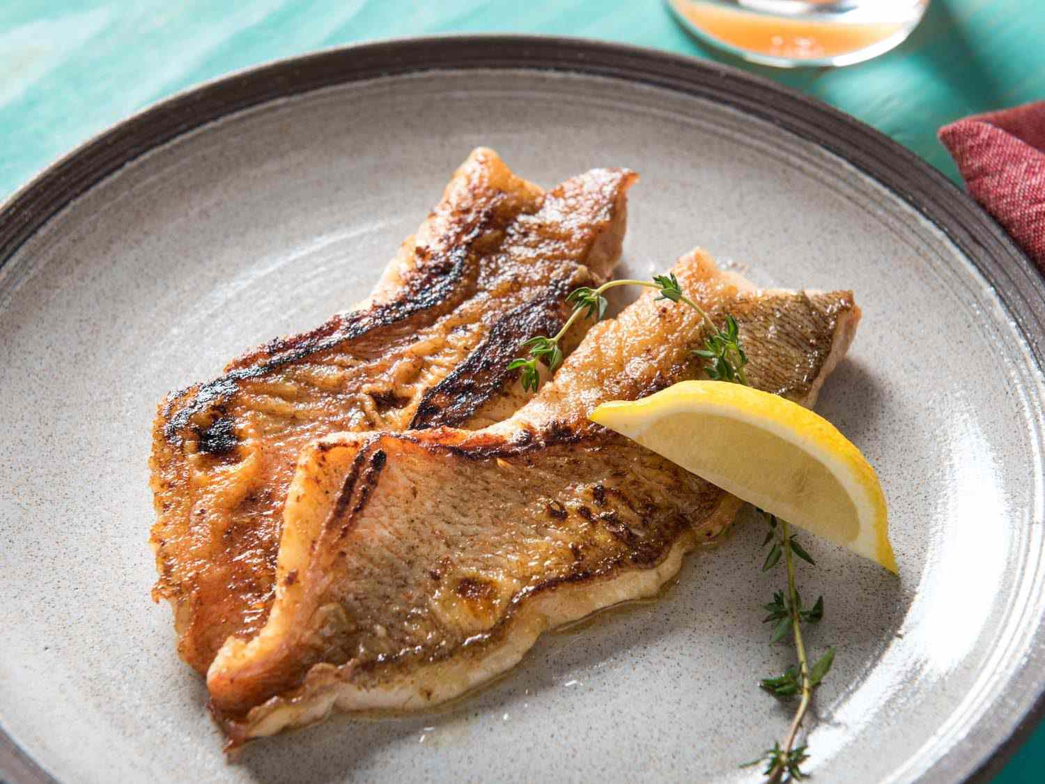 Plate of butter based fish