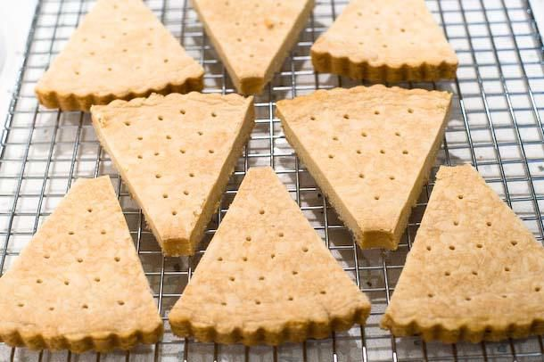 cool shortbread on wire rack