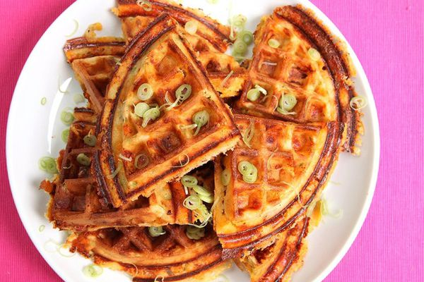 Bacon, Cheese, and Scallion Waffle