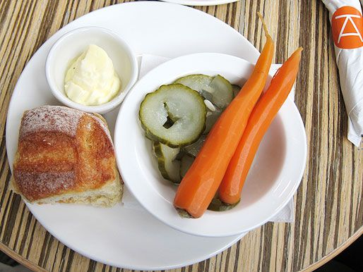 Pickled onions, cucumbers, and carrots