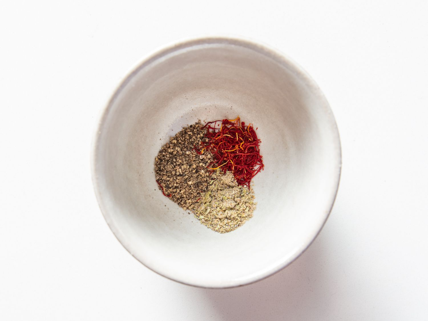 Spices for halva mixed together in a small bowl
