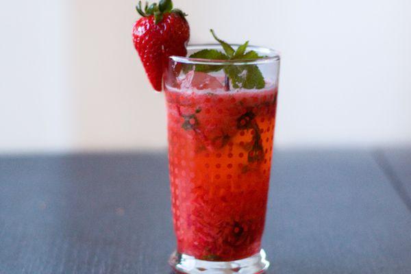 Strawberry Sake Cocktail