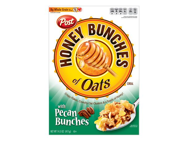 Honey Bunches of Oats with Pecan box cover.