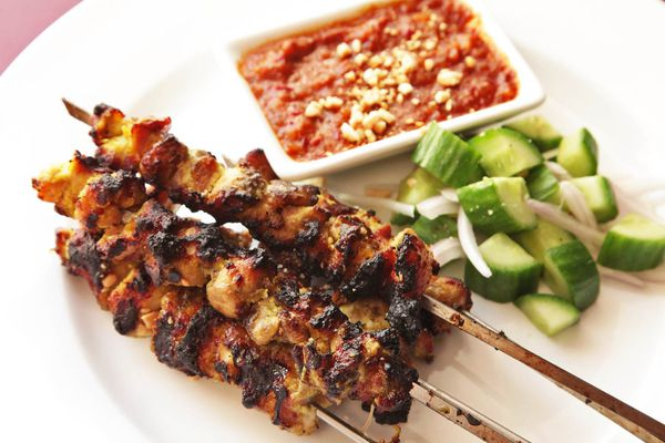 Thai-style chicken satay with coconut