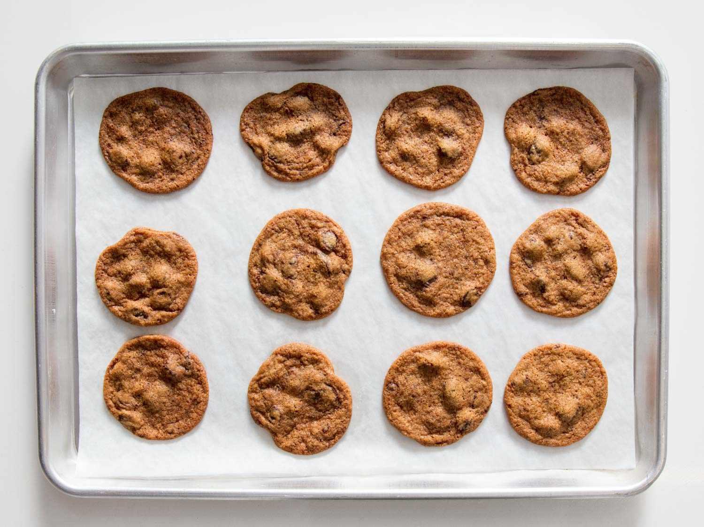 thin chocolate chip cookies