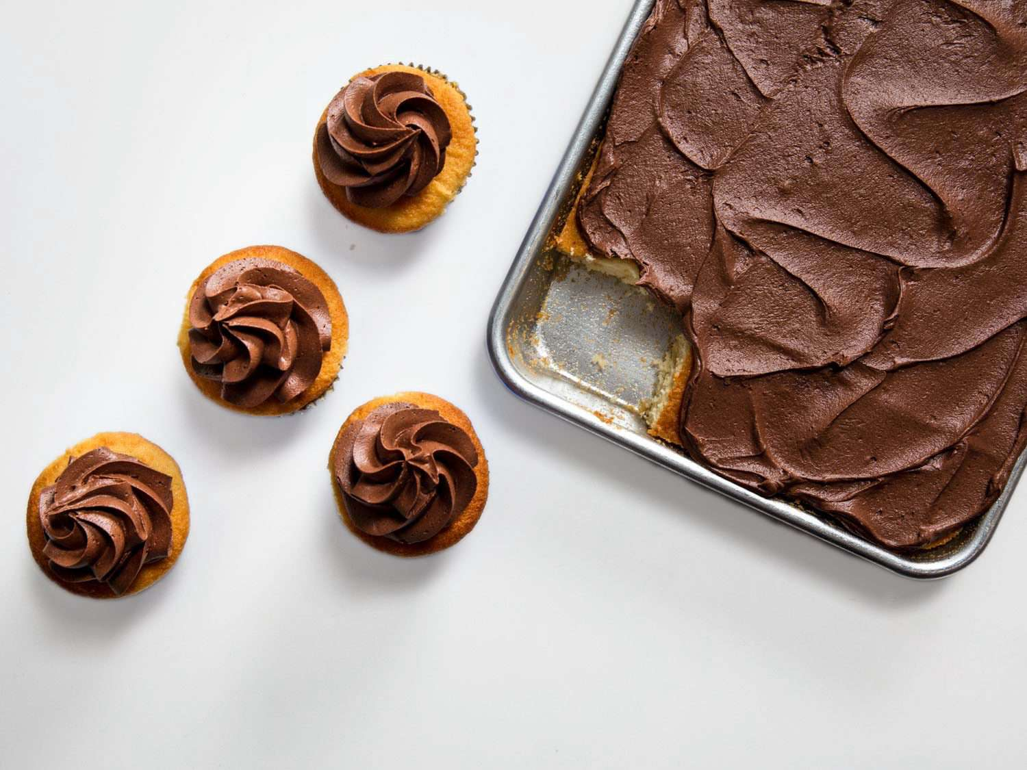 American-stye chocolate buttercream for cupcakes and sheet cake
