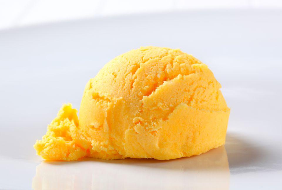scoop of mandarin sorbet