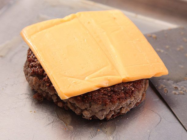 burger patty with American cheese