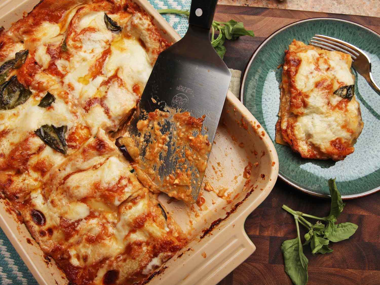 Zucchini and eggplant lasagna