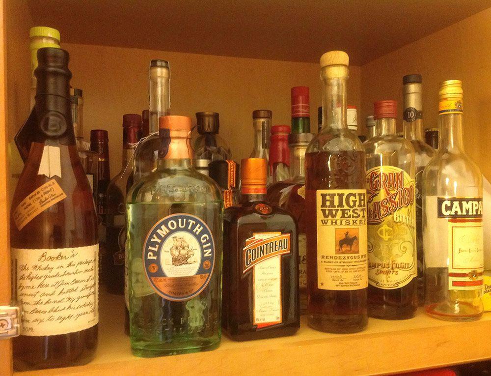 whiskey at home bar