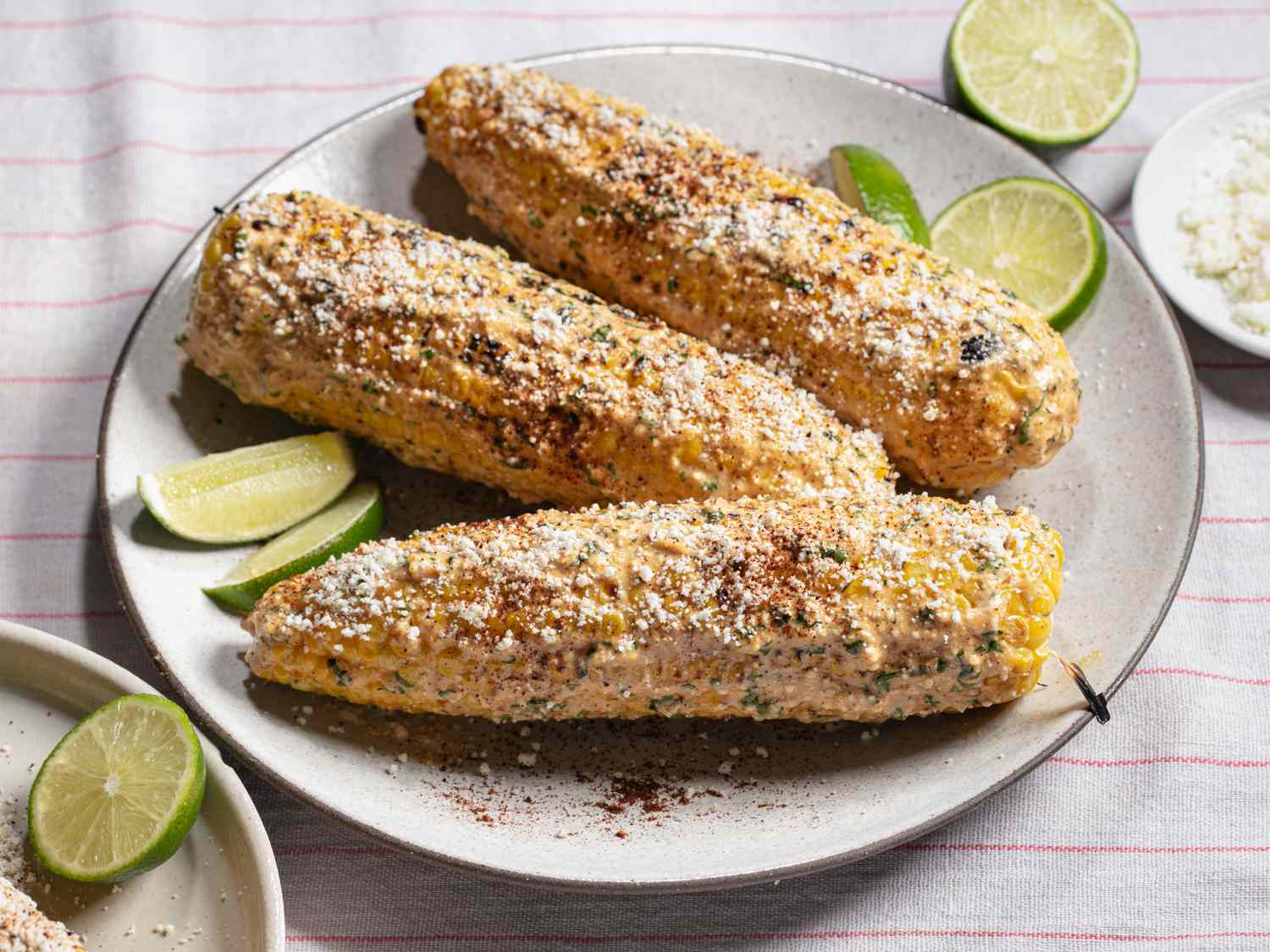 side angle of elotes