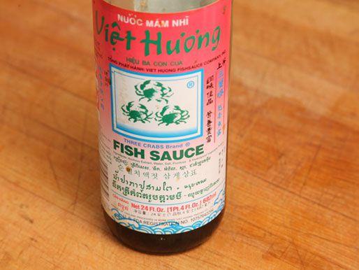 A bottle of Vietnamese fish sauce.