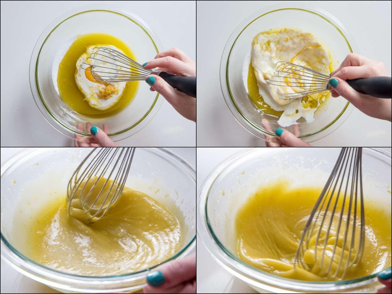 emulsifying the liquid ingredients