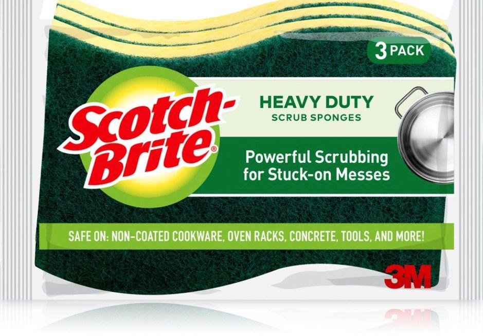 Scotch-Brite Heavy Duty Scrub Sponge,