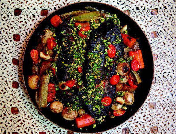 Classic Pot Roast with Pistachio Salt