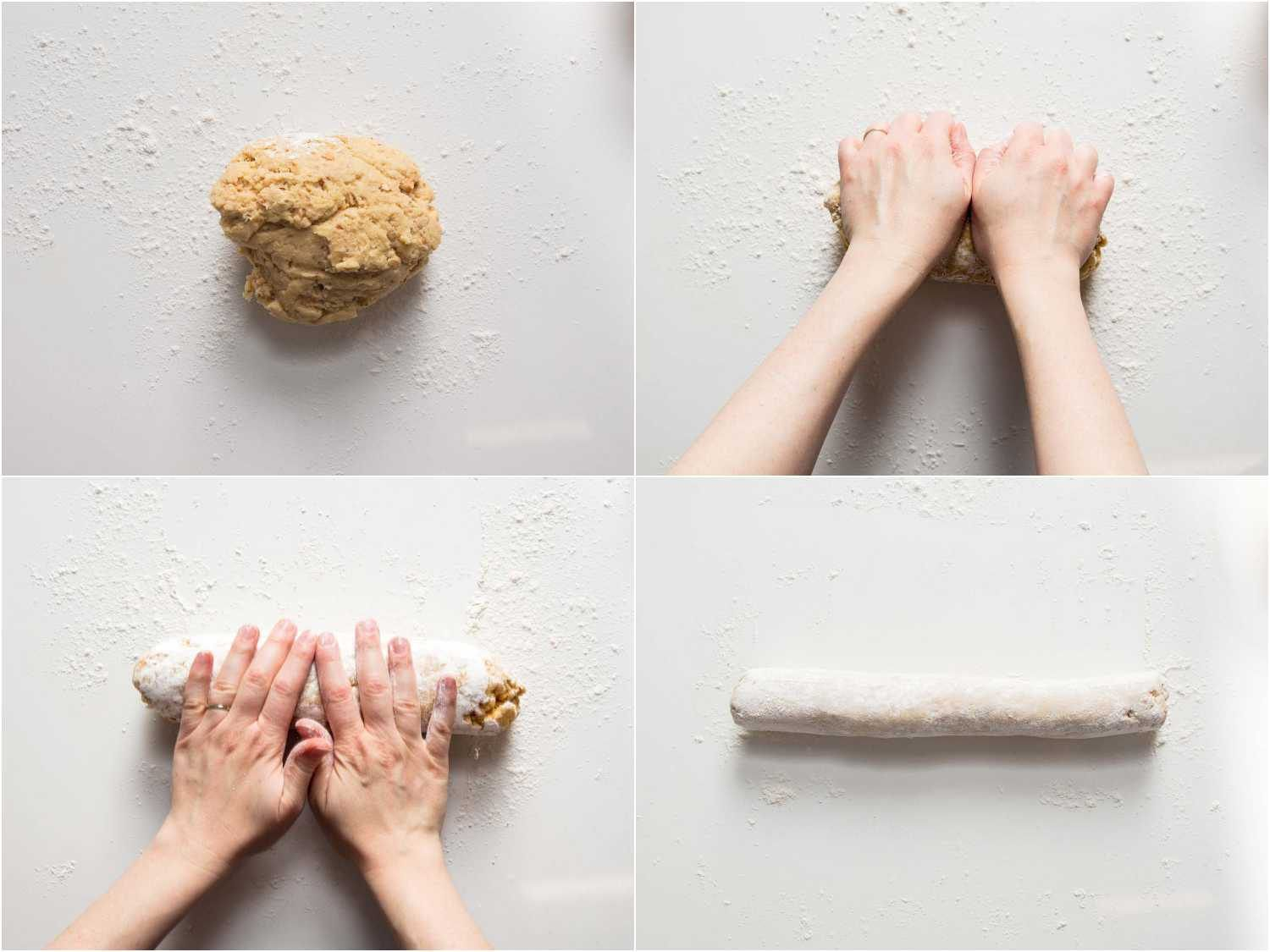 forming the log of dough